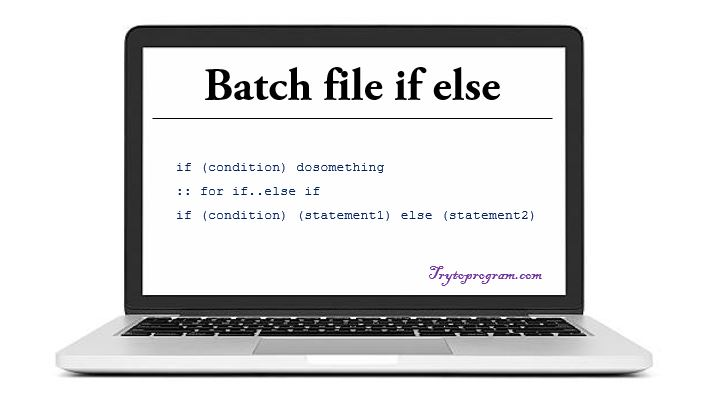 if else batch file