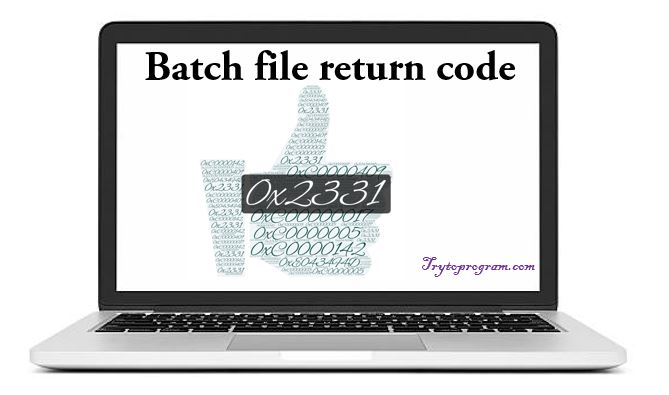 return code batch file