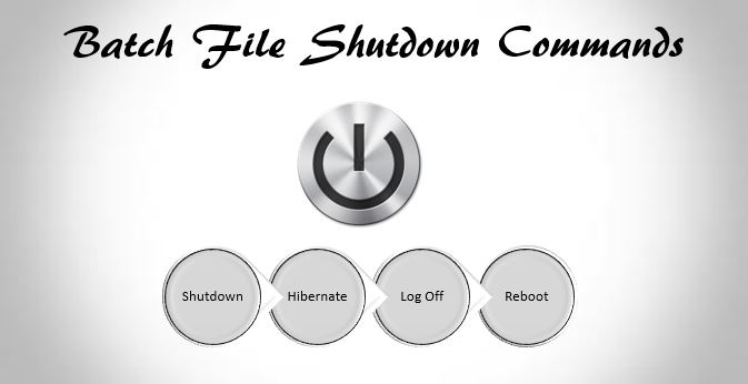 Batch file shutdown commands