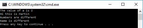 batch file if else output