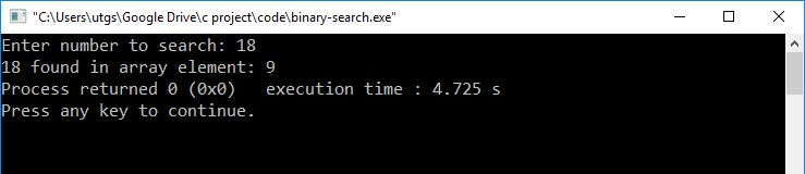 binary search output1
