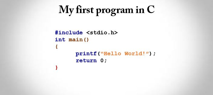 First program in C