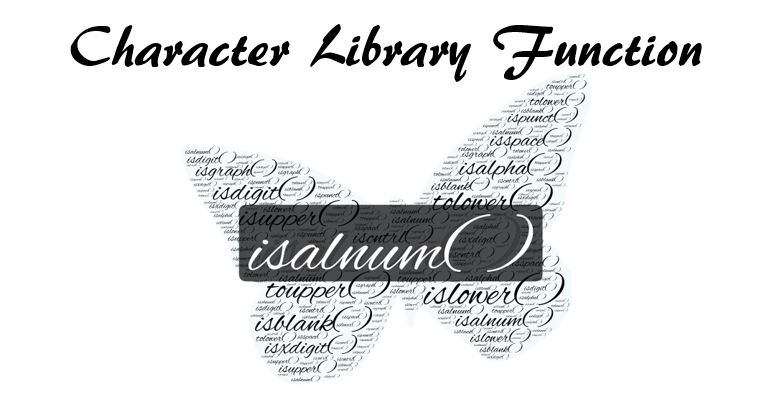 C library function isalnum