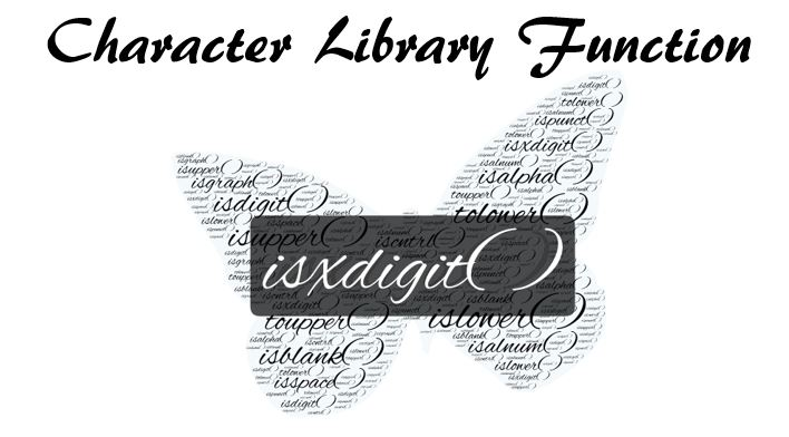 C Library Function isxdigit( )