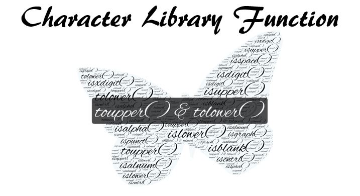 C Library Function toupper() and tolower()