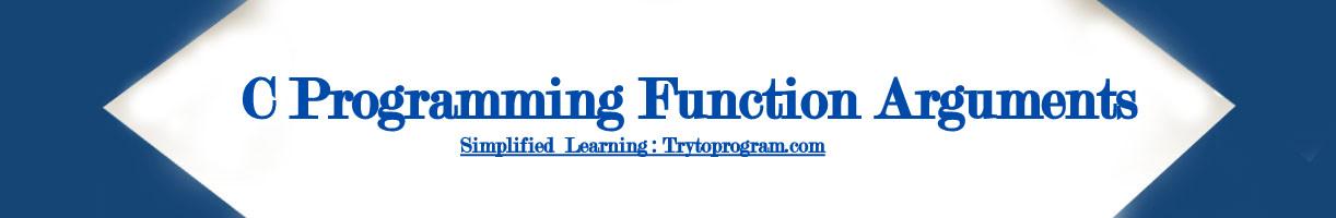 c programming function arguments