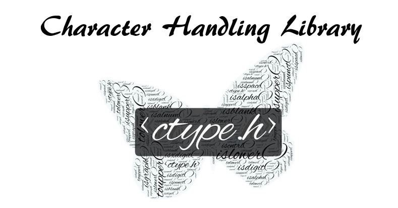 c programming character handling library functions