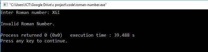 c code convert roman to decimal