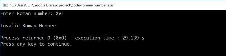 c program roman to decimal