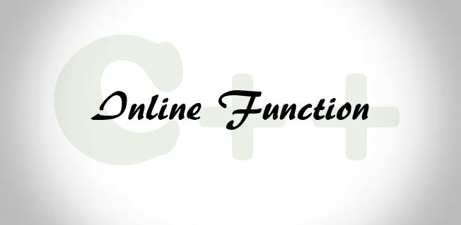 inline function in C++