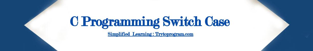c programming switch case