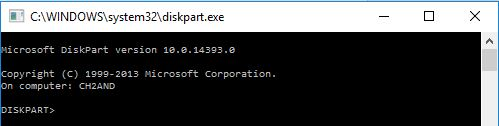 batch command diskpart