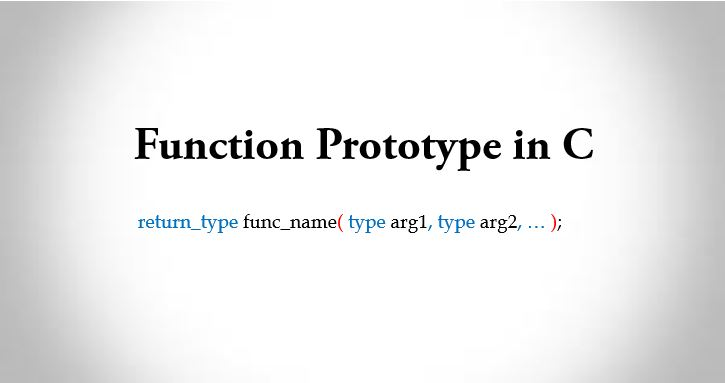 function prototype in c