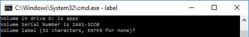 batch file command label