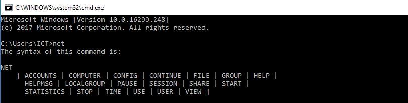 net command