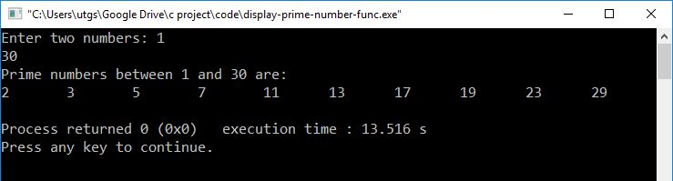 prime number function