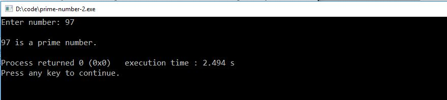 check prime number c++