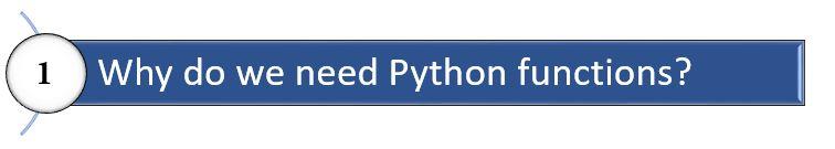 python function need