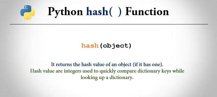 Python hash() Function - Example And Explanation | Trytoprogram
