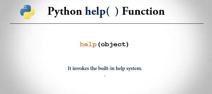 python help() method