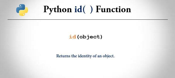 python id() function