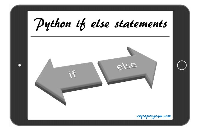 Python If Else Statement, If Else If Statement And Nested If