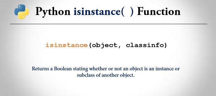 python isinstance() function
