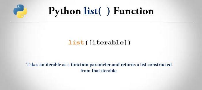 python list() function