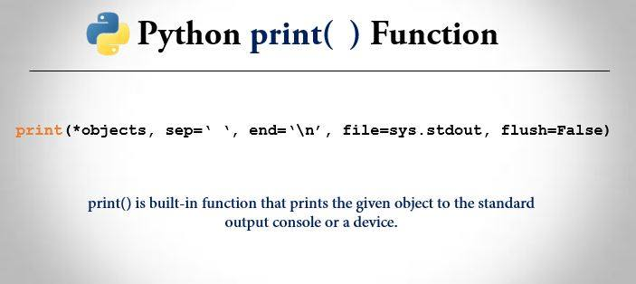 Python print() Function - Example And Explanation | Trytoprogram