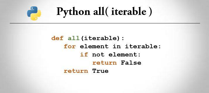 python all() method