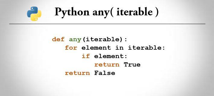 python any()