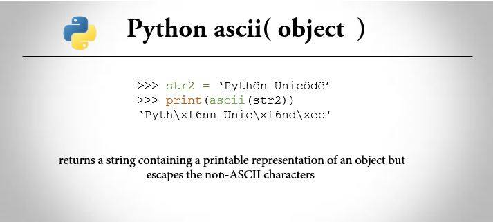 image about Non Printable Ascii Characters identify Python ascii() Tactic (With Illustrations) - Trytoprogram