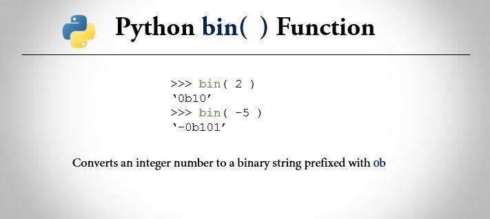 Python bin() function
