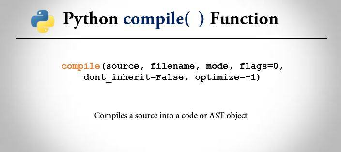 python compile() function