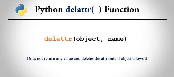 Python delattr() function