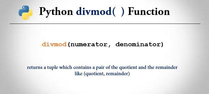python divmod() function