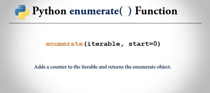 python enumerate() function