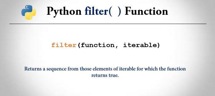 python filter() function