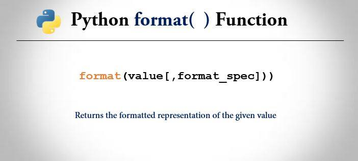 python format() function