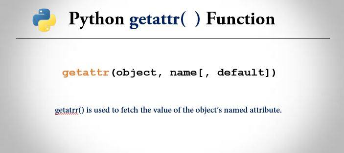 python getattr() function