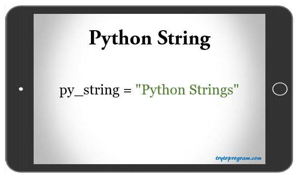 Python Strings (Tutorial With Examples) - Trytoprogram