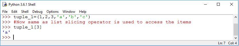 python datatype tuple