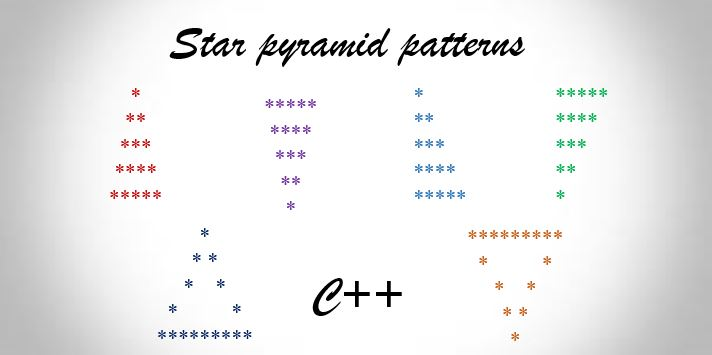 C++ program to print star pyramid patterns
